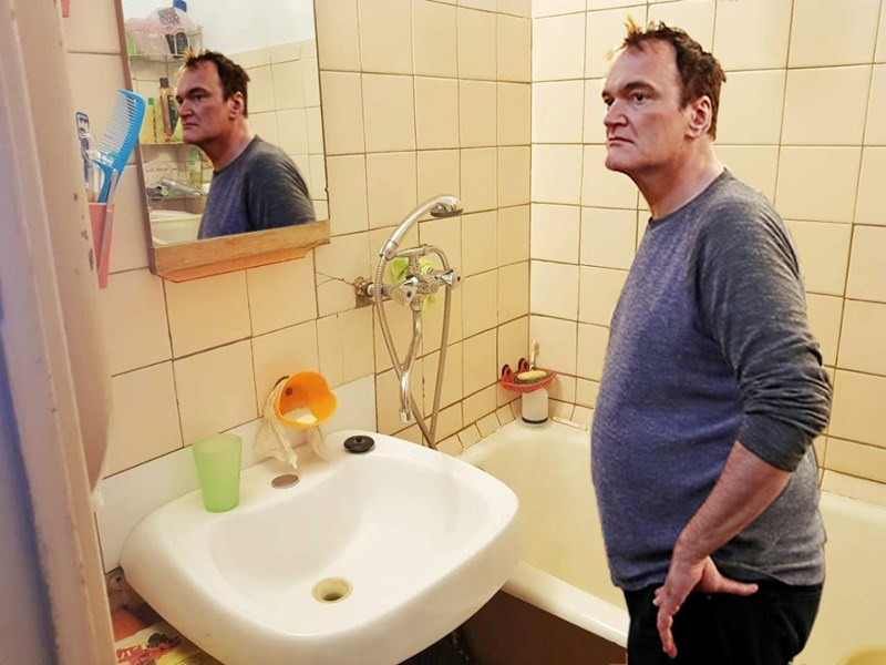 quentin Tarantino photoshopped into an apartment in Russia to help sell it