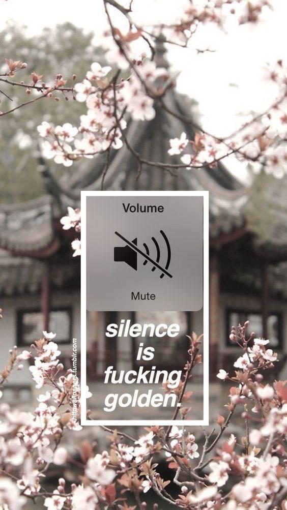 Flower - Volume Mute silence is fucking golden