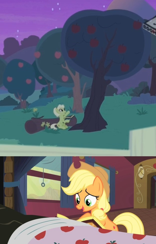 applejack screencap bloomberg granny smith the perfect pear over a barrel - 9050145792