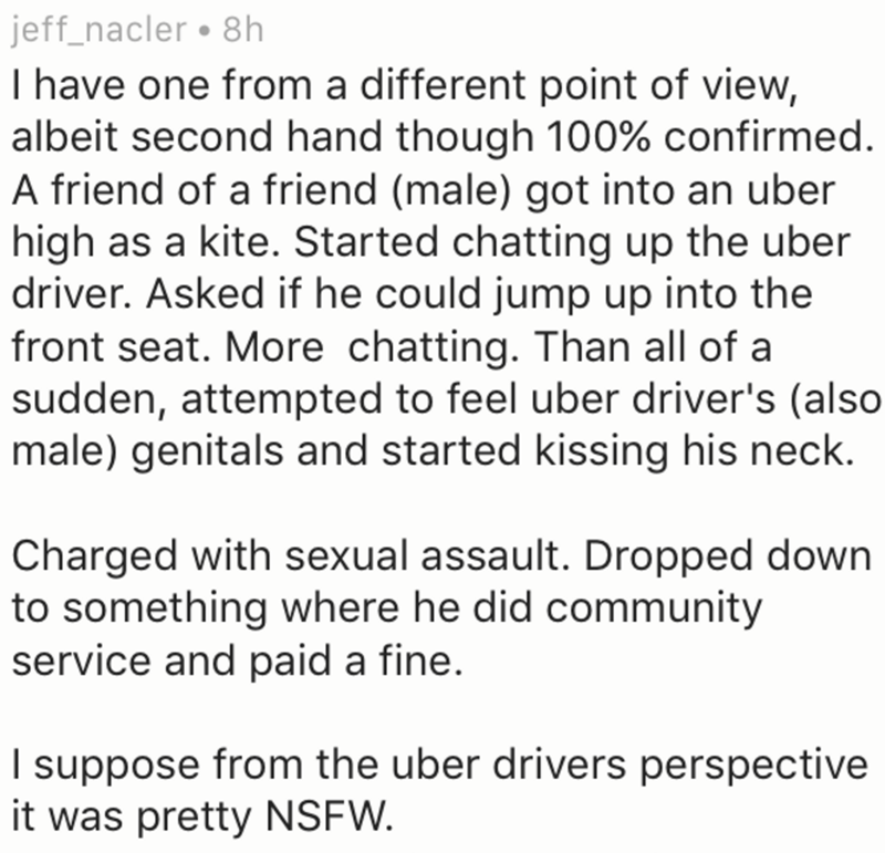 dude tries to get gay with uber driver