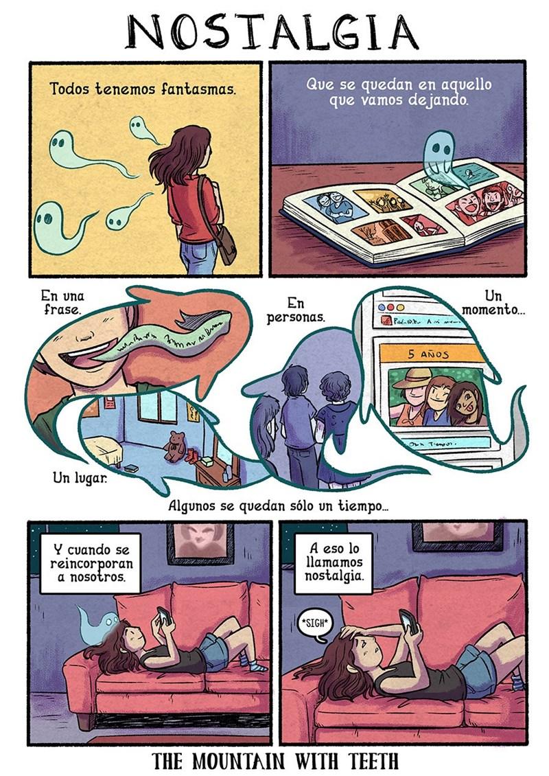 un comic sobre el fantasma que llamamos nostalgia
