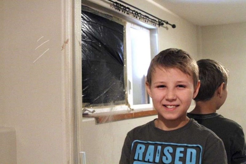 11 year old Zach Landis who had a bear bust through his window in the middle of the night in their home in Alaska