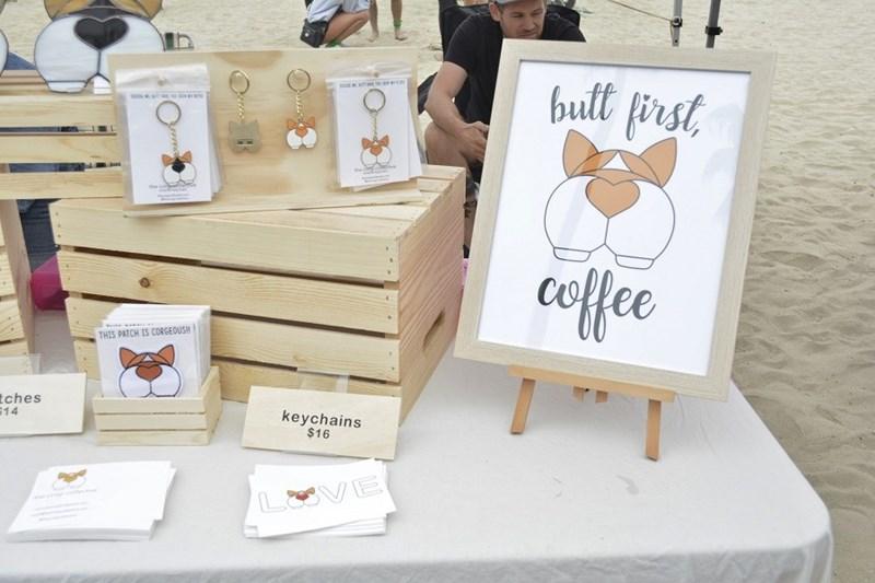 Butt First Coffee at California Corgi day