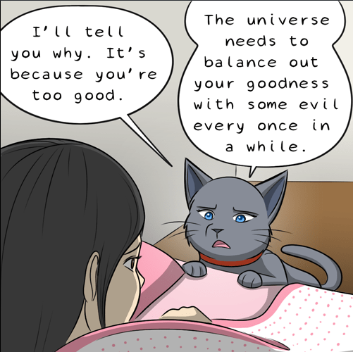 Cat ranting a bit more about the whole good and evil balance thing