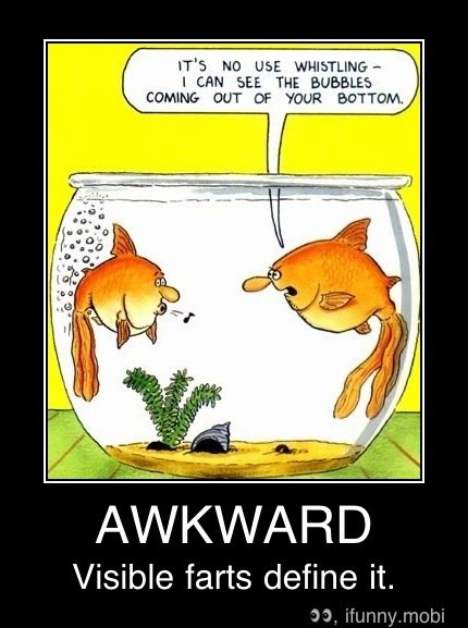 Cartoon - IT'S NO USE WHISTLING ICAN SEE THE BUBBLES COMING OUT OF YOUR BOTTOM AWKWARD Visible farts define it. , ifunny.mobi