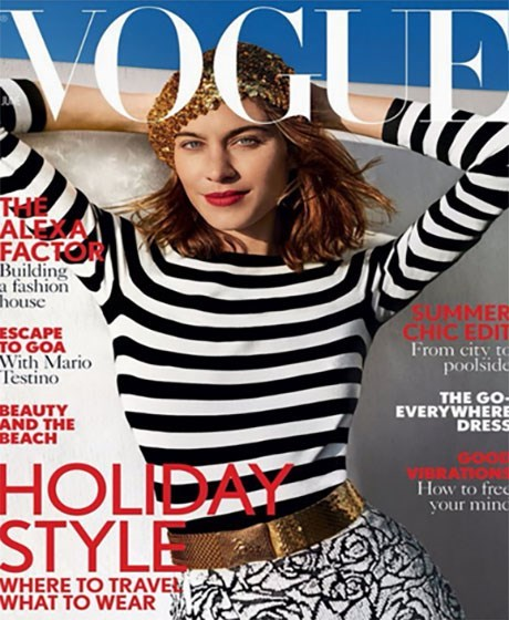 Magazine - OGL THE ALEXA FACTOR Building a fashion house SUMME CHICED From city poolsi ESCAPE TO GOA With Mario Testino THE G EVERYWHE DRE BEAUTY AND THE BEACH HOLIDAY STYLE How to your mi WHERE TO TRAVE WHAT TO WEAR