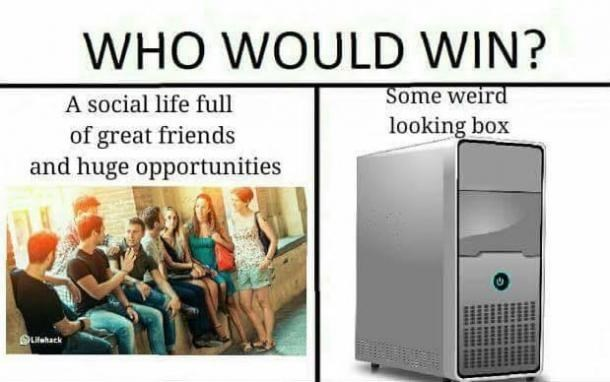 Funny Who Would Win meme about computers and friendships.
