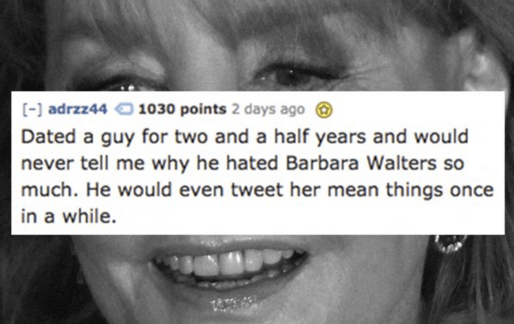 BF who hated Barbara Walters for no good reason.