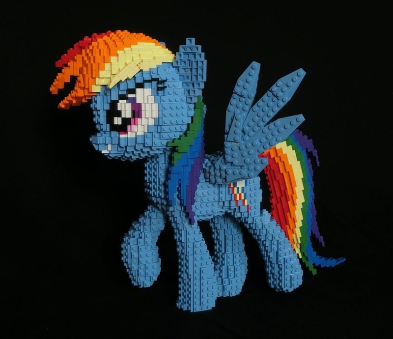 oilyvalves lego rainbow dash - 9051052800