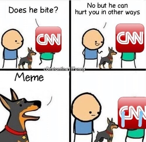 Cartoon - No but he can hurt you in other ways Does he bite? CAN CAN cOnsiantine ifonny Meme