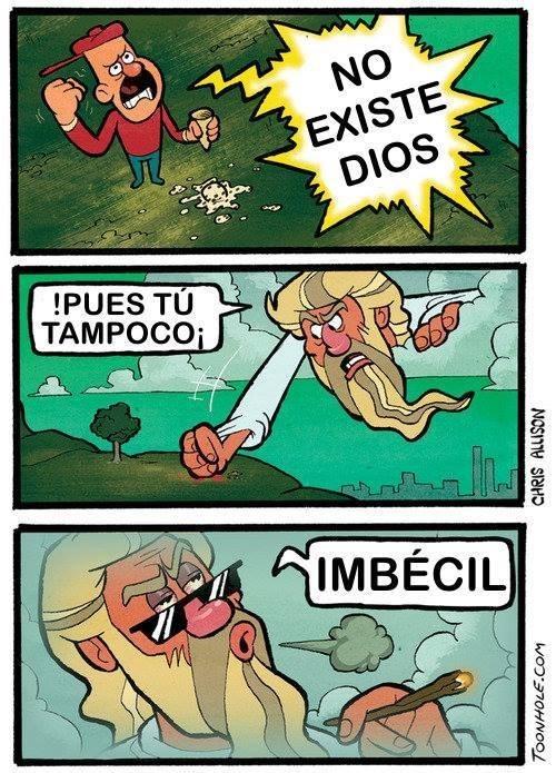 comic sobre la no existencia de dios
