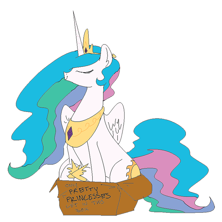 nobody princess celestia acting like animals - 9051572992