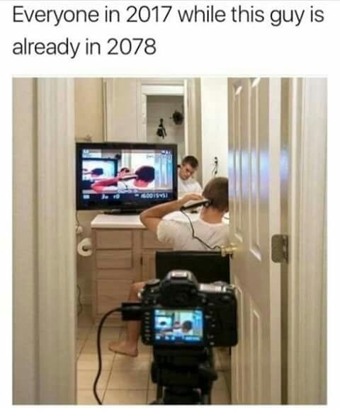 Product - Everyone in 2017 while this guy is already in 2078 .005