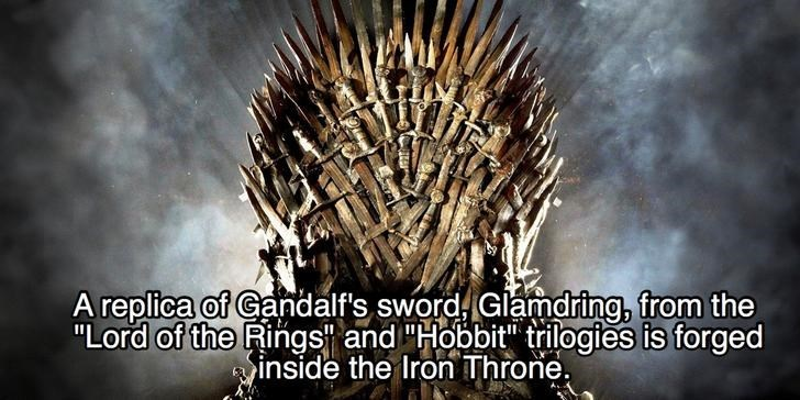 """Organism - A replica of Gandalf's sword Glamdring, from the """"Lord of the Rings and """"Hobbit trilogies is forged inside the Iron Throne"""