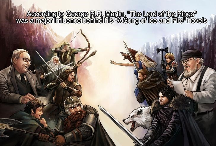 Action-adventure game - According to George R.R MartinThe Lord of the Rings was a major influence behind his ASong of lee and Fire novels