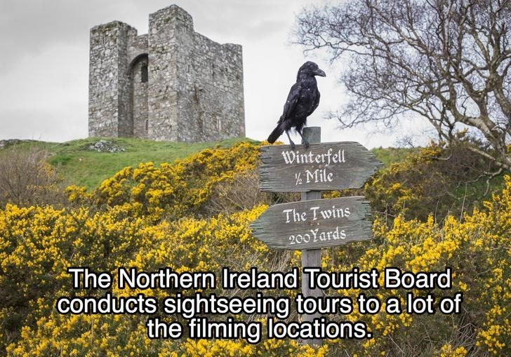 Natural landscape - Winterfell ½ Mile The Twins 200Yards The Northern Ireland Tourist Board conducts sightseeing tours to a lot of the filming locations