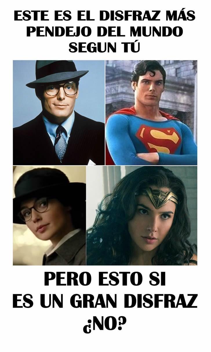 disfraz de la mujer maravilla comparado superman