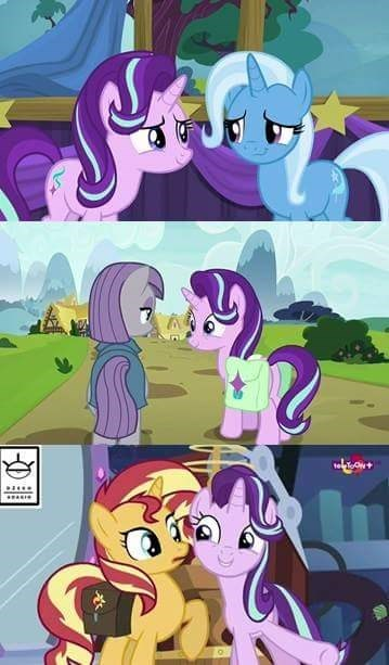 the great and powerful trixie starlight glimmer screencap mirror magic no second prances sunset shimmer maud pie rock solid friendship - 9052357376