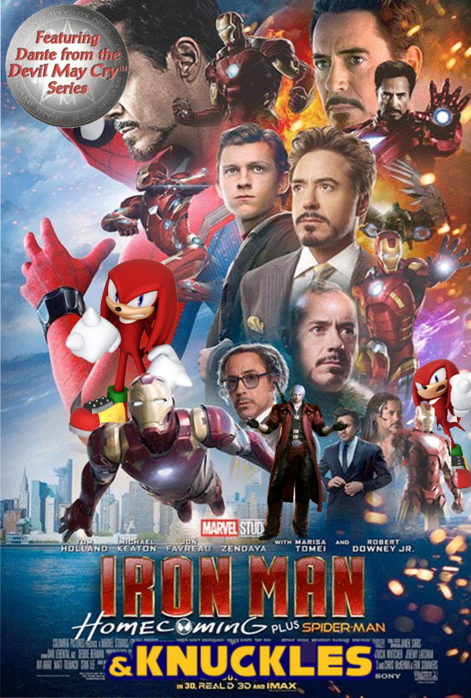 Poster - Featuring Dante from the Devil May Cry Series MARVEL STUD TOM ICHAEL HOLLANDKEATON FAVREAU ZENDAYA ON ROBERT AND DOWNEY JR. WITH MARISA TOMEI ARON MON HomECOmnGPUS SPIDER MAN w F VE S &KNUCKLES AT SONY IN 30, REAL D 3D AND IMAX