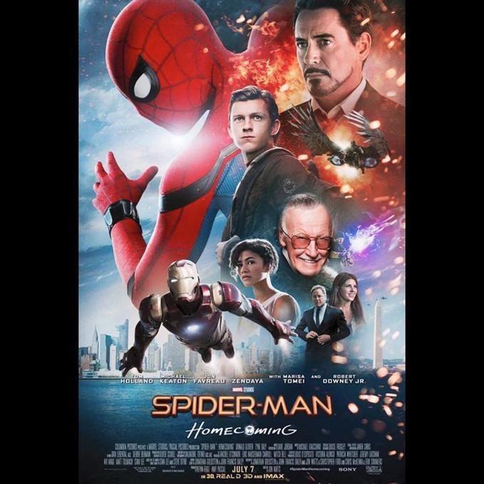 Movie - MTAKL HOLLAND KEATON FAVREAU ZENDAYA WITH MARISA TOME ROBERT AND DOWNEY JR. SPIDER-MAN HomECBMinG JULY 7 30 REALD 3DAD IMAX SSONY