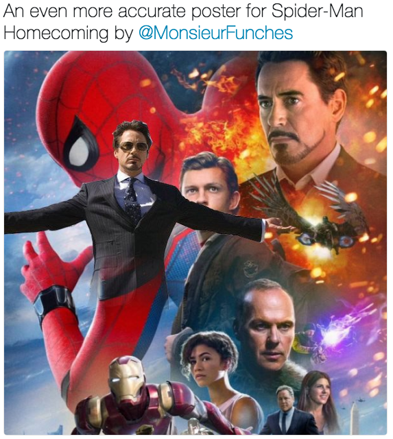 Movie - An even more accurate poster for Spider-Man Homecoming by @MonsieurFunches