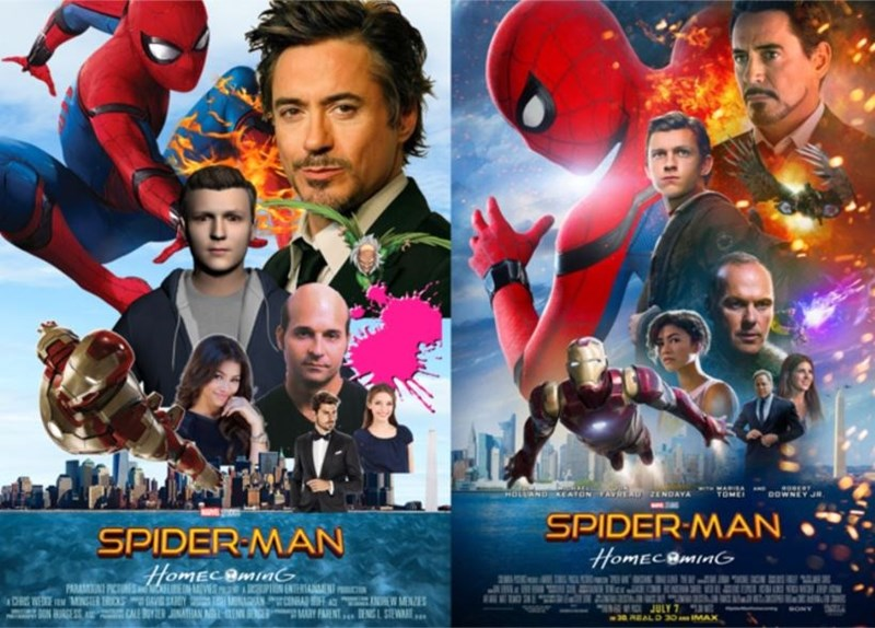 Hero - HOLLAND CATON FAVT ZENDAYA DOWNEY J TOME SPIDER-MAN SPIDER-MAN HomECBMinG Homec BmaG PARAPICTUES MENT ME E T C WEE M MNSER TRICS GE SA AS AU W MENE ARY PARNT.. DENG L SEW.. JULY 7 30 AEAL D 30IMAX CALE YJN SONY