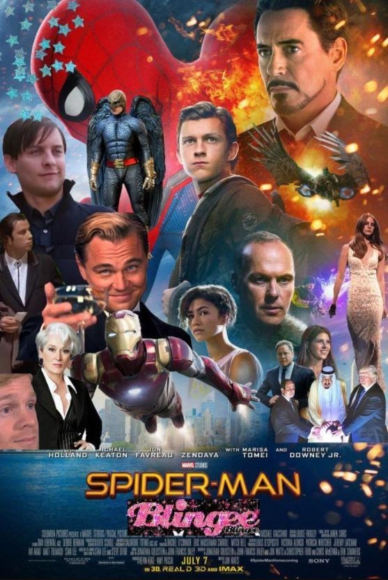 Movie - ON HOLLAND KEATON FAVREAD ZENDAYA LATCHALL ROBERT DOWNEY JR WITH MARISA ANO TOME A S SPIDER-MAN Binge HICE C E8 NF PAJULY 7 M n SONY IN 30, REAL D 3D AND IMAX