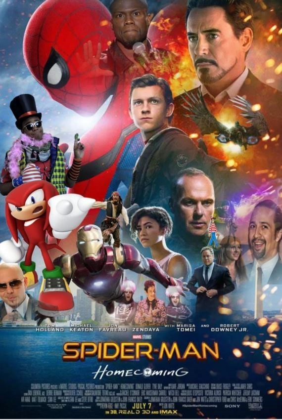 Movie - MICHACL WITH MARISA TOME ROBERT DOWNEY JR AND HOLLAND KEATON FAVREAU ZENDAYA STUDS SPIDER-MAN HomECOminG ARE STORG RICA PC EH UCAE SECI INE PAAJULY 7 SONY 30, REALD 3D AND IMAX