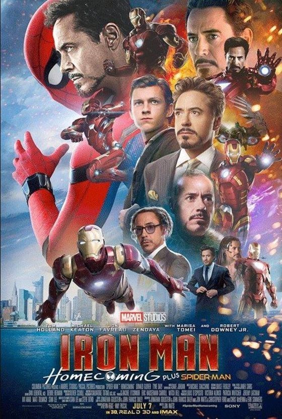 Movie - MARVEL STUDIOS MucHAEL HOLLAND KEATON WITH MARISA TOME ROBERT DOWNEY JR. AND FAVREAU ZENDAYA MROW MHN HomECOmInGPUS SPIDER MAN JULY 7 N30, REALD 3D AND IMAX d ing SONY