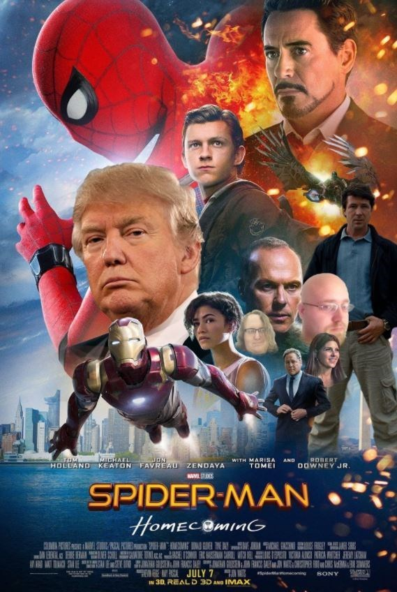 Movie - TCHAEL TOM HOLLANDKEATON FAVREAU ZENDAYA uON ROBERT WITH MARISA AND DOWNEY JR TOME WSTUDS SPIDER-MAN HomECOminG HE EA PASCA JULY 7 piderManomacoming SONY IN 3D, REALD 3D AND IMAX