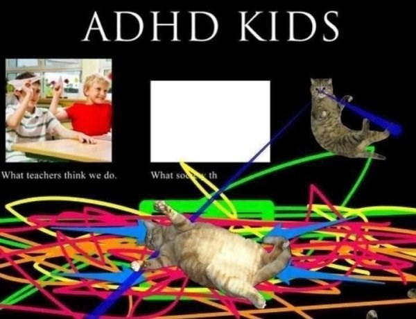 funny meme about life as a kid with adhd
