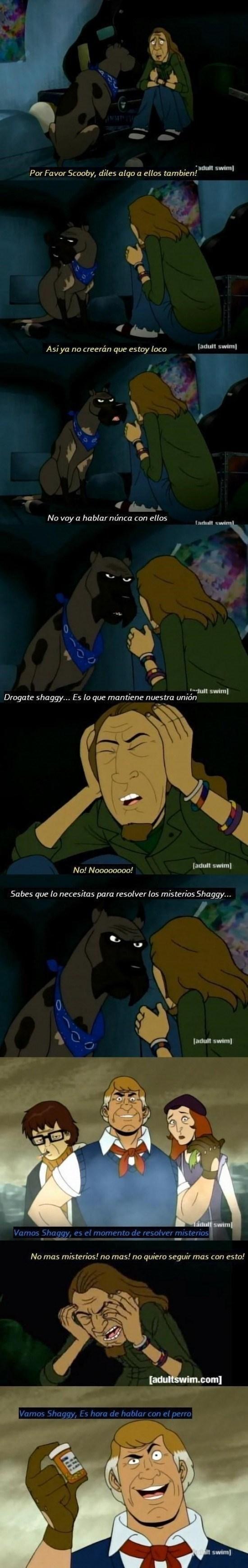 vineta perturbadora sobre el secreto de Scooby-Doo