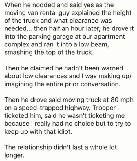 Dude who didn't understand how low clearance worked for trucks.