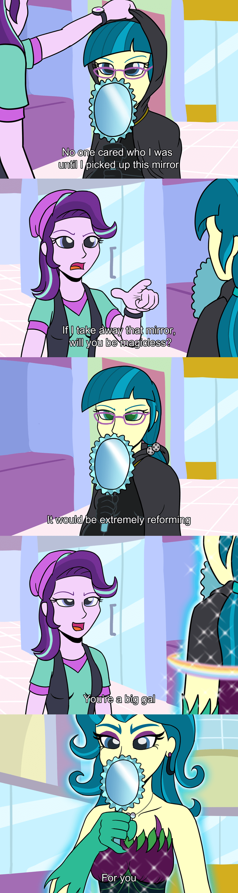 equestria girls the dark knight rises starlight glimmer baneposting m kogwheel mirror magic ponify comic juniper montage - 9053124096