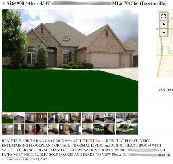 Property - ML# 701566 (fayetteville) $264900 4br 4347 4BR /3Ba BEAUTIFUL 4BR/3.5 BA/3 CAR BRICK with ARCHITECTURAL LINES THAT PLEASE. VERY ENTERTAINING FLOORPLAN. FORMAL& INFORMAL LIVING and DINING. HEARTHROOM WITH VAULTED CEILING. PRIVATE MASTER SUITE W/ WALKIN SHOWER/WHIRPO IVATE PATIO. VERY NICE! PUBLIC GOLF COARSE AND PARKS. TO VIEW Please Call contact info or show contact info (EXT) 2042. South School Avenue +