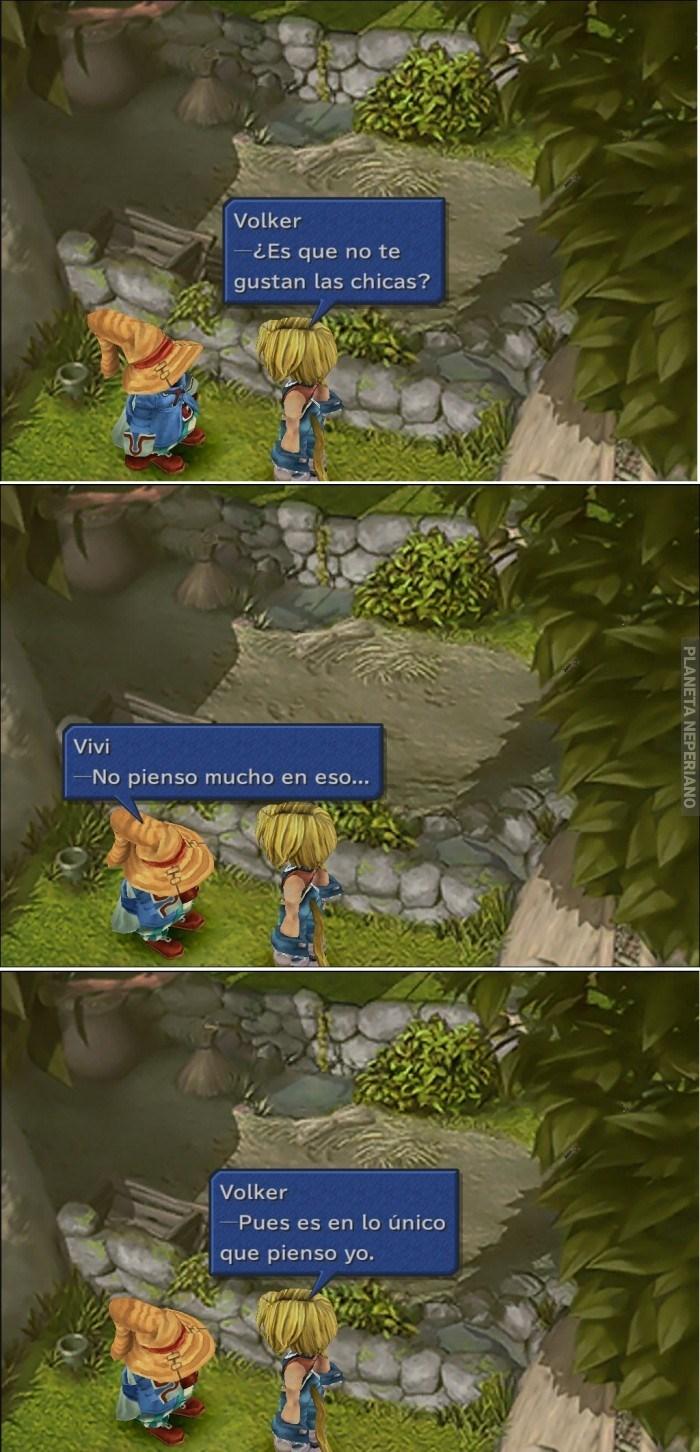 en final fantasy el dialogo entre dos personajes acerca del amor