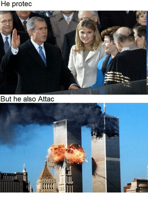 dank meme accusing Bush of 9/11