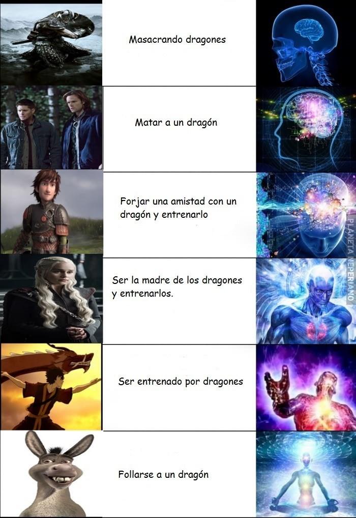 meme sobre los dragones follarse un dragon