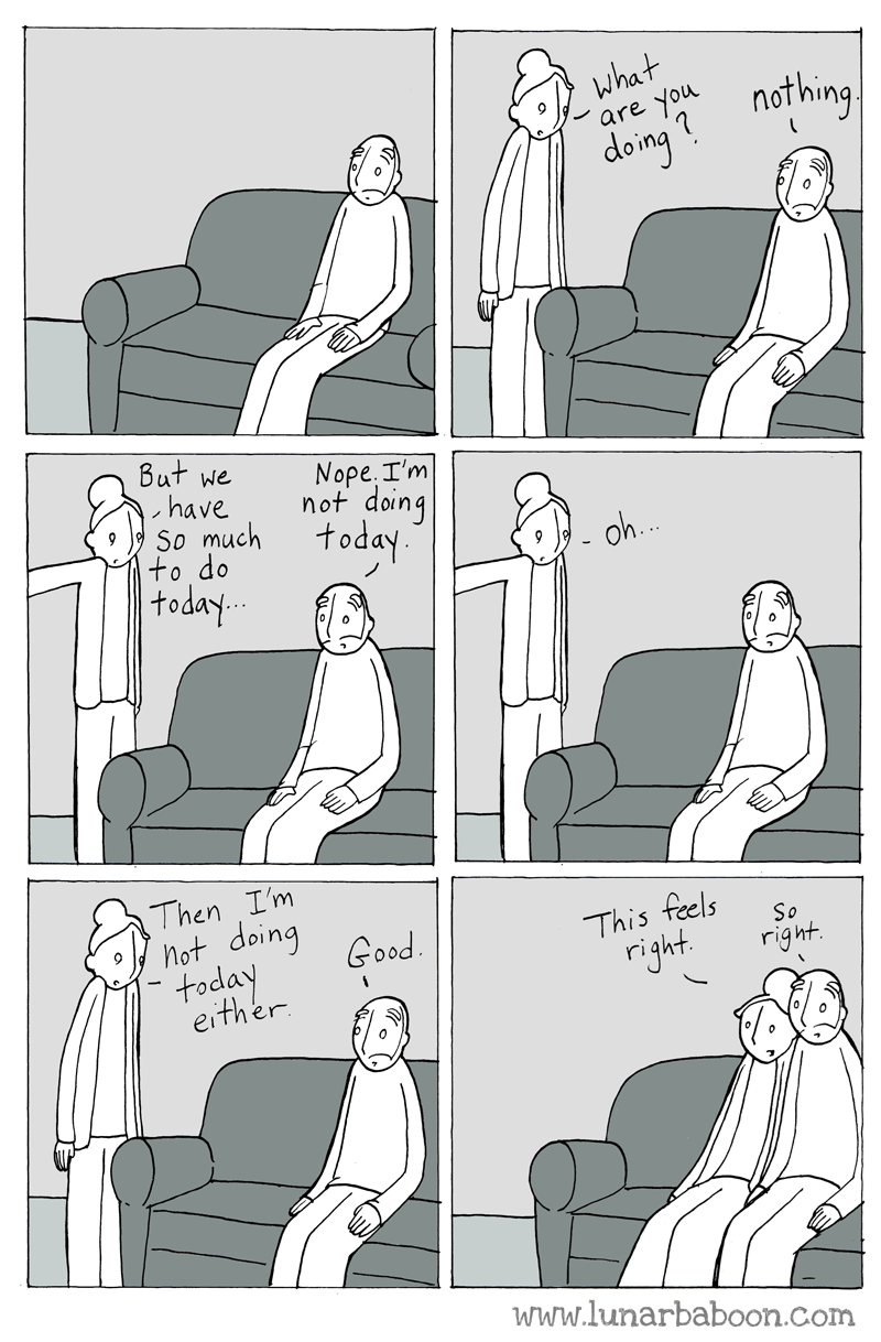Pattern - What are o nothing doing But we have So much +o do Νοpe. Tm not doing today -oh.. |today Then Im not doing Good This feels So today either right right www.lunarbaboon.com