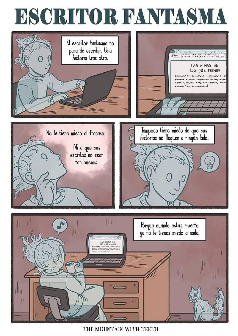 las ventajas del escritor fantasma que nada lo asusta