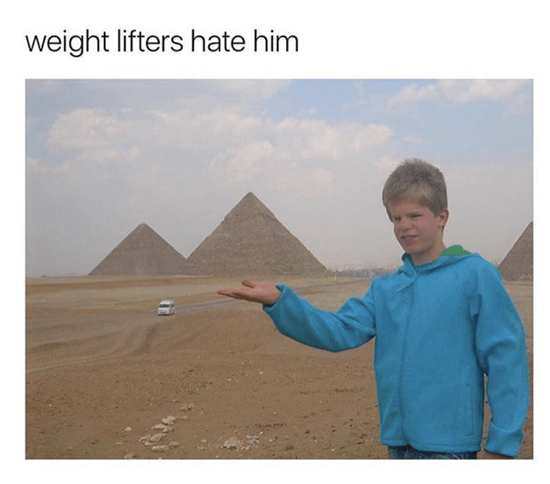 Pyramid - weight lifters hate him
