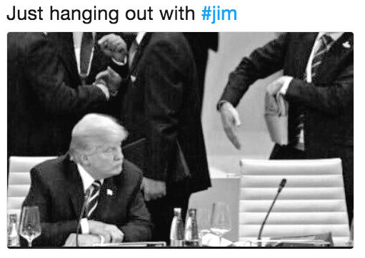 Text - Just hanging out with #jim
