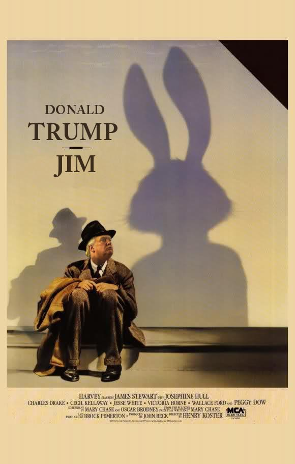 Poster - DONALD TRUMP ЛM HARVEY STARG JAMES STEWARTJOSEPHINE HULL CHARLES DRAKE CECIL KELLAWAY JESSE WHITE VICTORIA HORNE WALLACE FORDe EMARY CHASEN 0SCAR BRODNEY d MARY CHASE MCA HOBUcaBROCK PEMERTON JOHN BECKn HENRY KOSTER PEGGY DOW POMTS