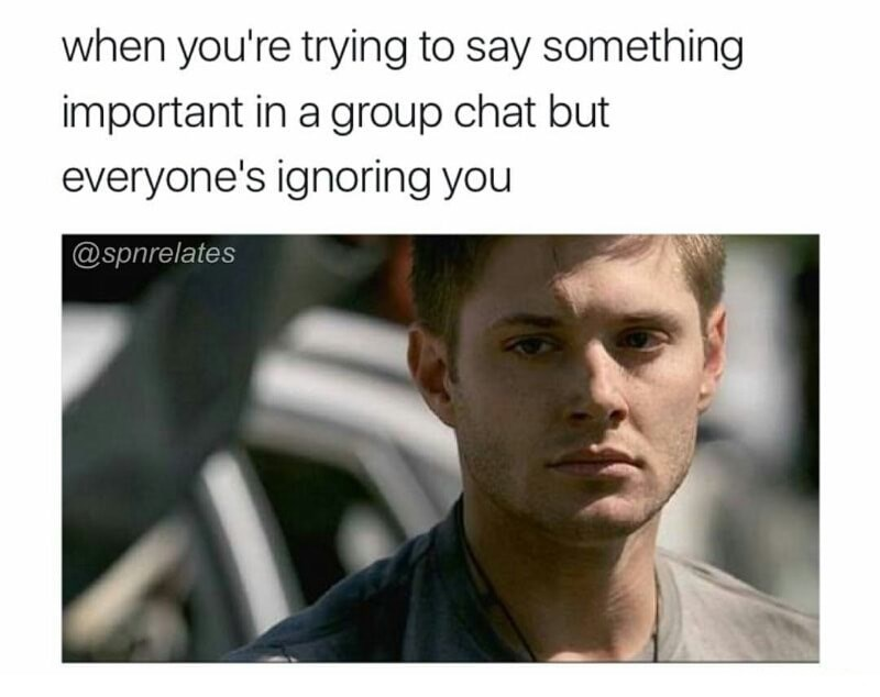 Meme of Ryan Phillippe about trying to say something important in a group chat but everyone is ignoring you.