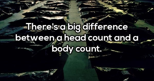 """Water - There'sia big difference between a head count anda """"body count."""