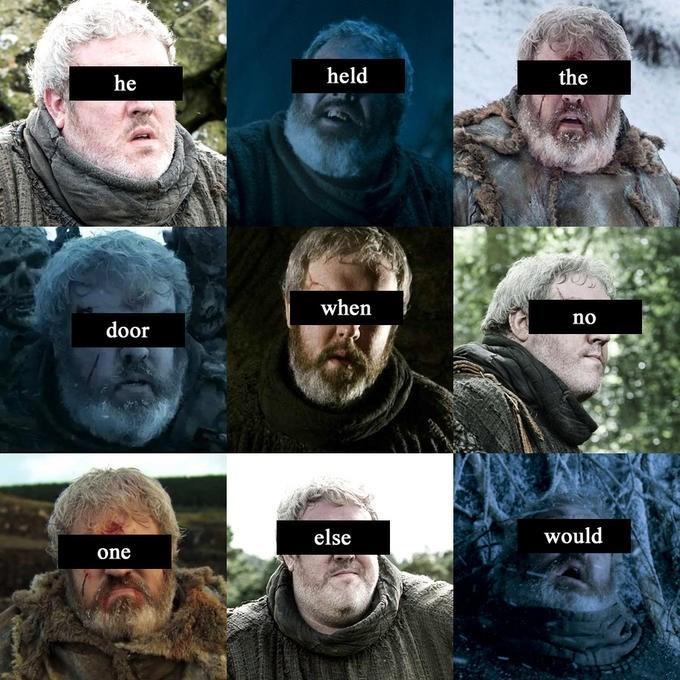 Head - held the he when no door would else one