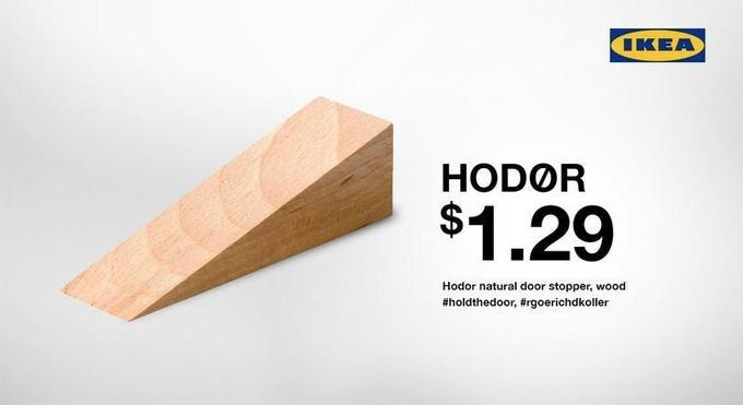 Wood - IKEA HODOR $1.29 Hodor natural door stopper, wood #holdthedoor, #rgoerichdkoller