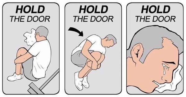 Cartoon - HOLD HOLD HOLD THE DOOR THE DOOR THE DOOR