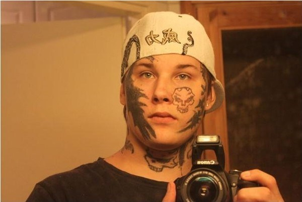really bad choice of face tattoos