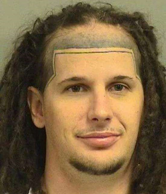 Man has imaginary hairline drawn tattooed onto his face